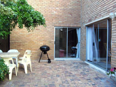 Patio with braai for the House